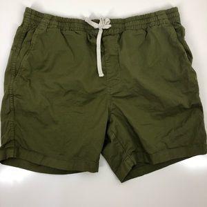 J Crew olive elastic waist shorts L